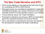 the new trade narrative and wto