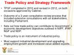 trade policy and strategy framework