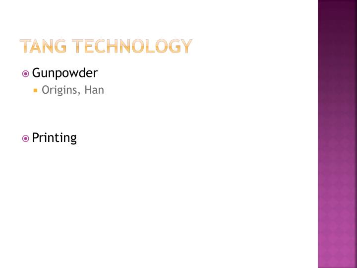 TANG TECHNOLOGY