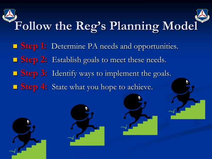 Follow the Reg's Planning Model