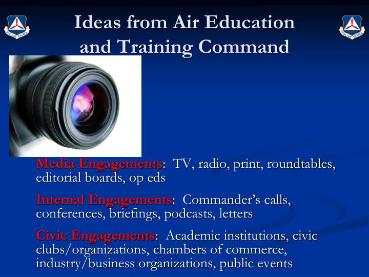 Ideas from Air Education