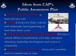 ideas from cap s public awareness plan