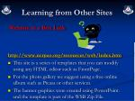 learning from other sites