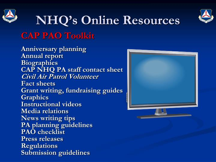 NHQ's Online Resources