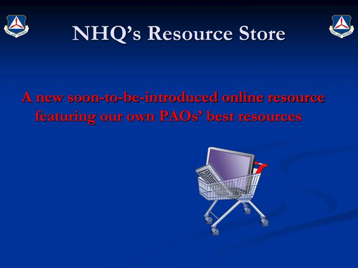 NHQ's Resource Store