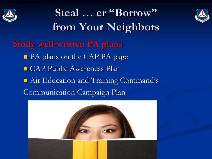 "Steal … er ""Borrow"""