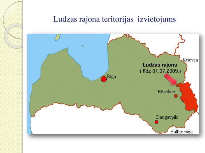 Ludzas rajona teritorijas  izvietojums