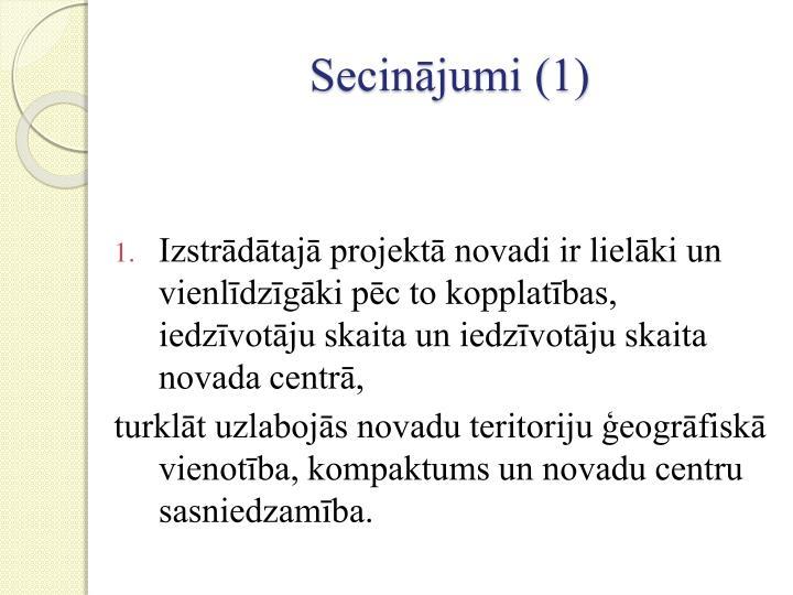 Secinājumi (1)