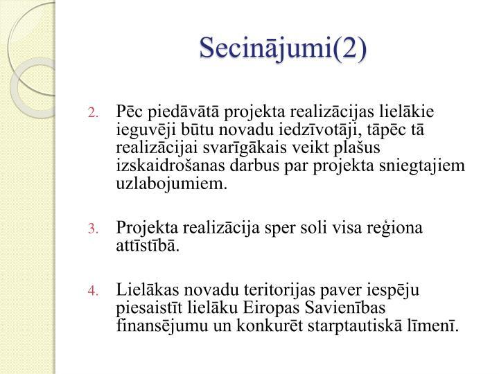 Secinājumi(2)