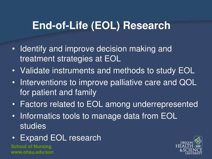 End-of-Life (EOL) Research