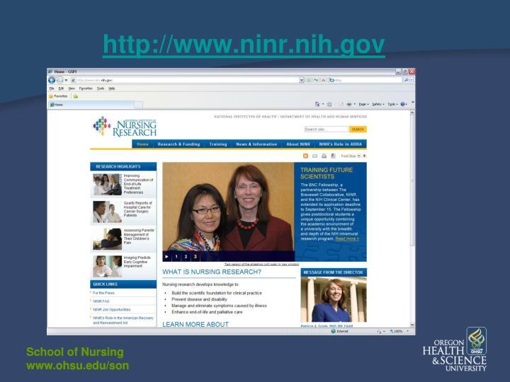 http://www.ninr.nih.gov