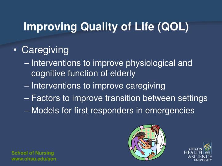 Improving Quality of Life (QOL)