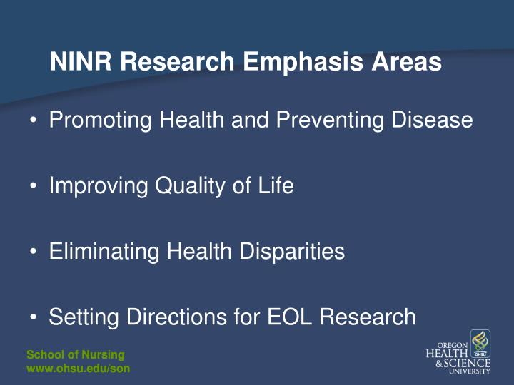 NINR Research Emphasis Areas
