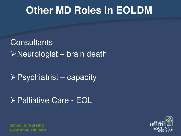Other MD Roles in EOLDM