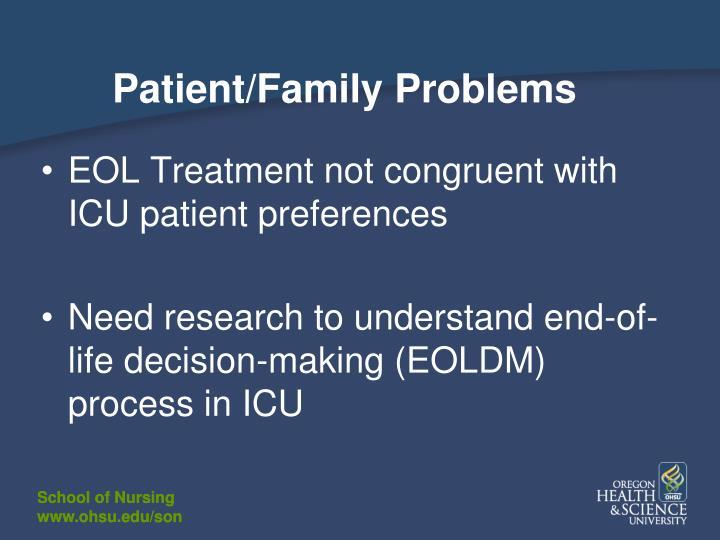 Patient/Family Problems
