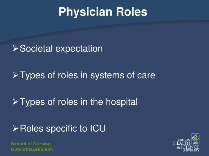 Physician Roles
