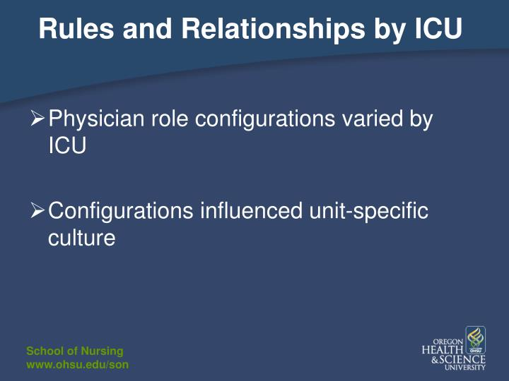 Rules and Relationships by ICU