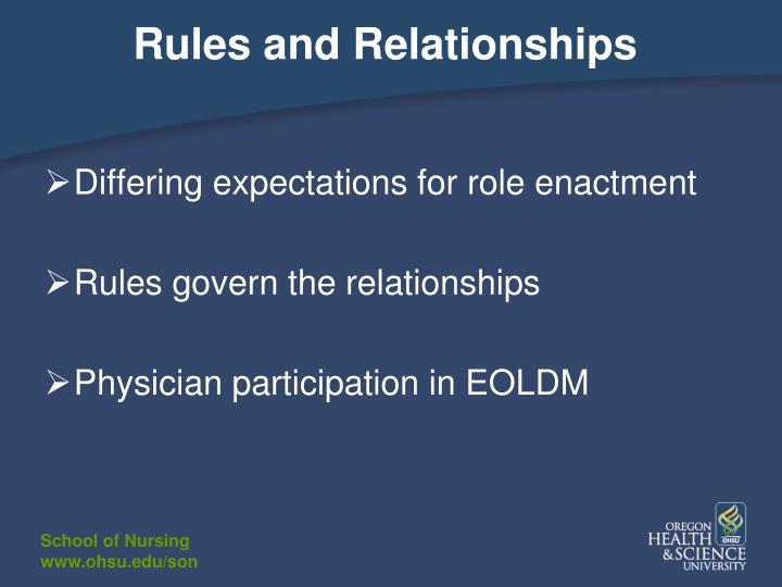 Rules and Relationships