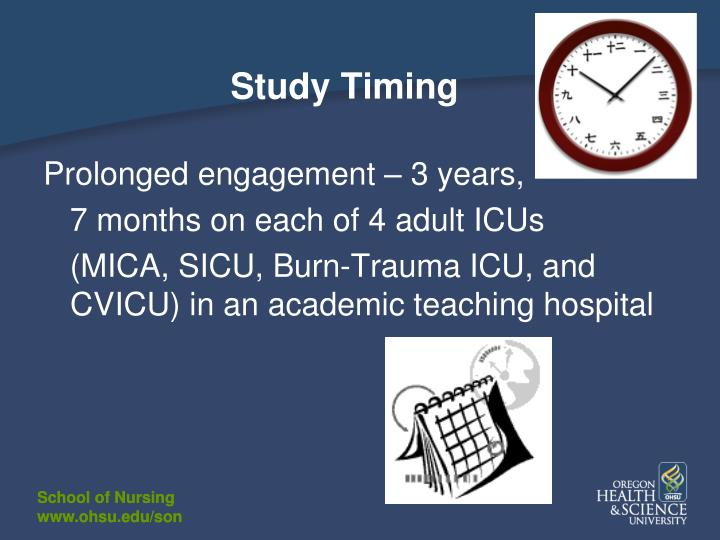 Study Timing