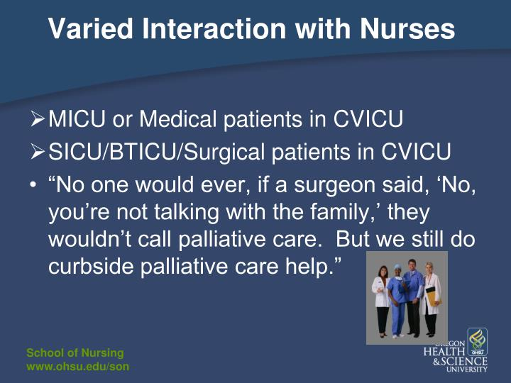 Varied Interaction with Nurses