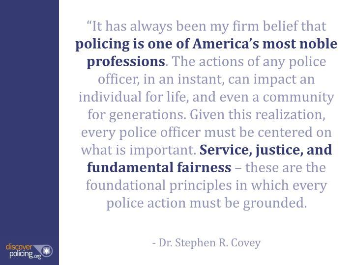 """""""It has always been my firm belief that"""
