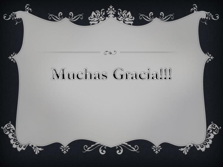 Muchas Gracia!!!