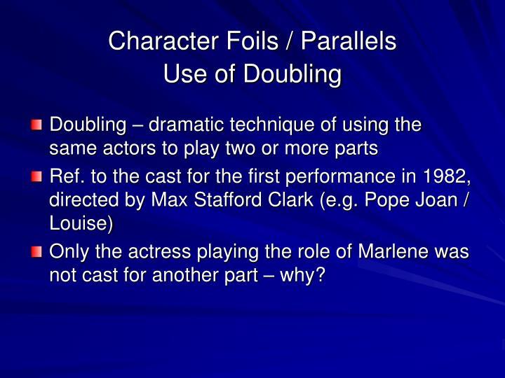 Character Foils / Parallels