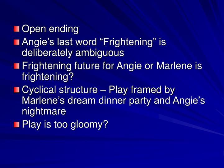 Open ending
