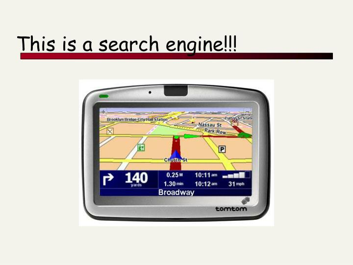 This is a search engine!!!