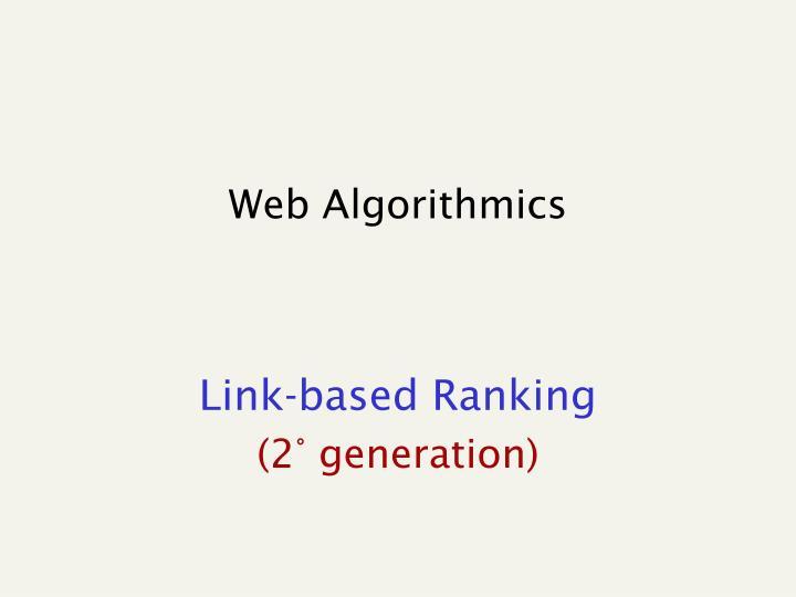 Web Algorithmics