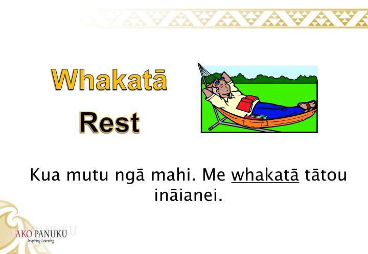 Whakatā
