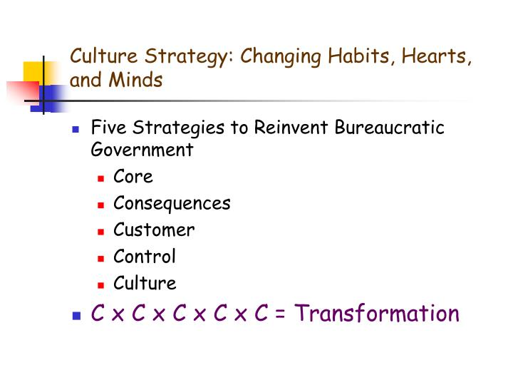Culture Strategy: Changing Habits, Hearts, and Minds