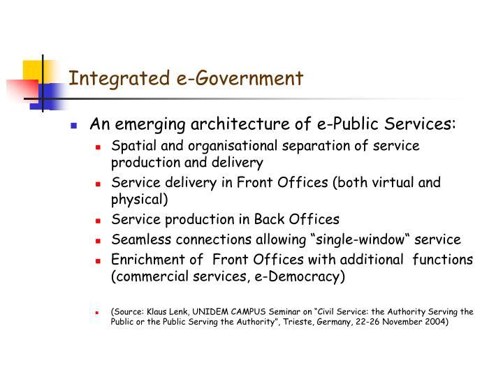 Integrated e-Government