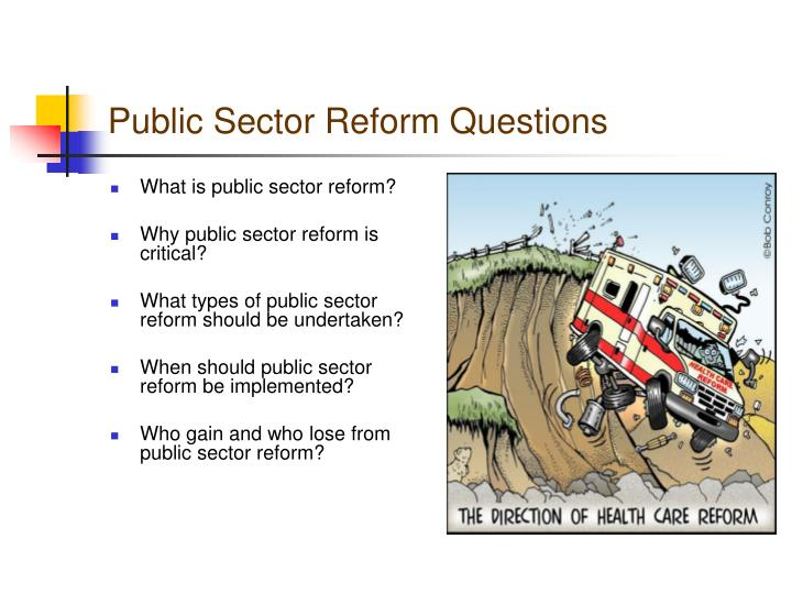 What is public sector reform?