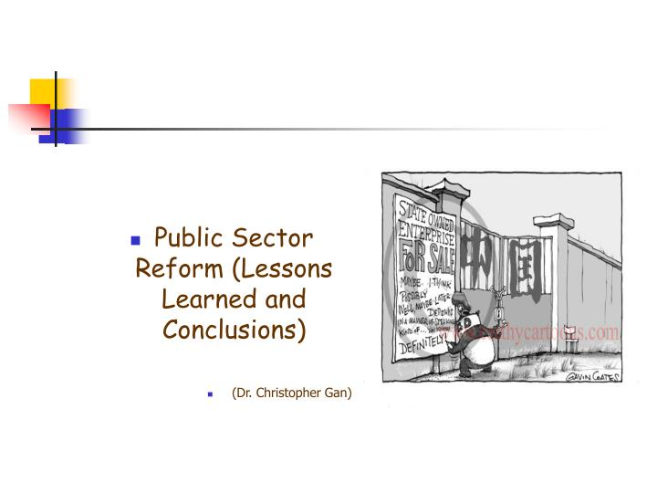 Public Sector Reform (Lessons Learned and Conclusions)