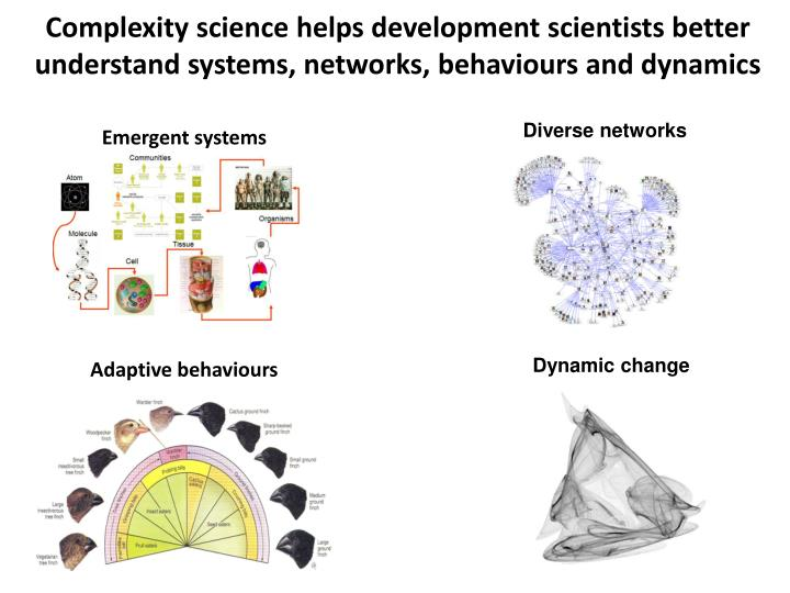 Complexity science helps development scientists better understand systems, networks, behaviours and dynamics