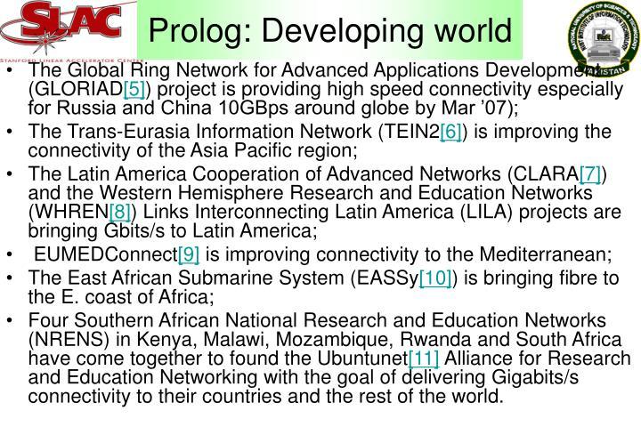 Prolog: Developing world