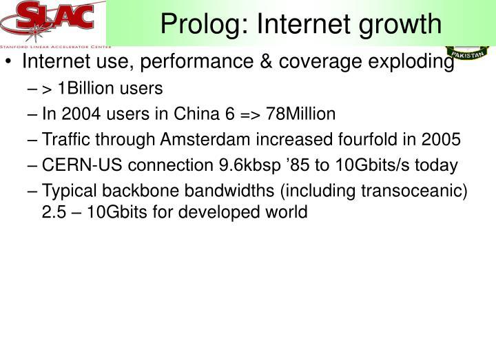 Prolog: Internet growth
