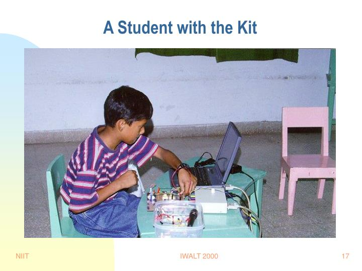 A Student with the Kit