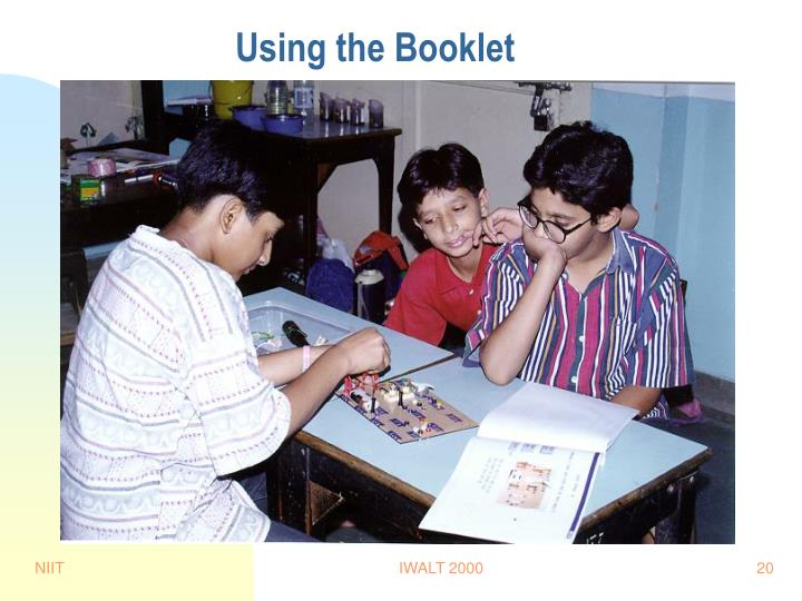 Using the Booklet