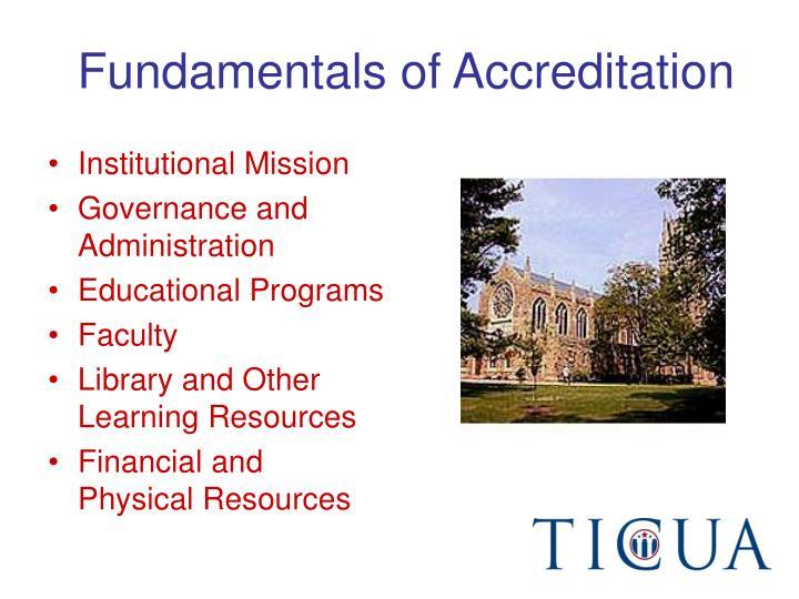 Fundamentals of Accreditation