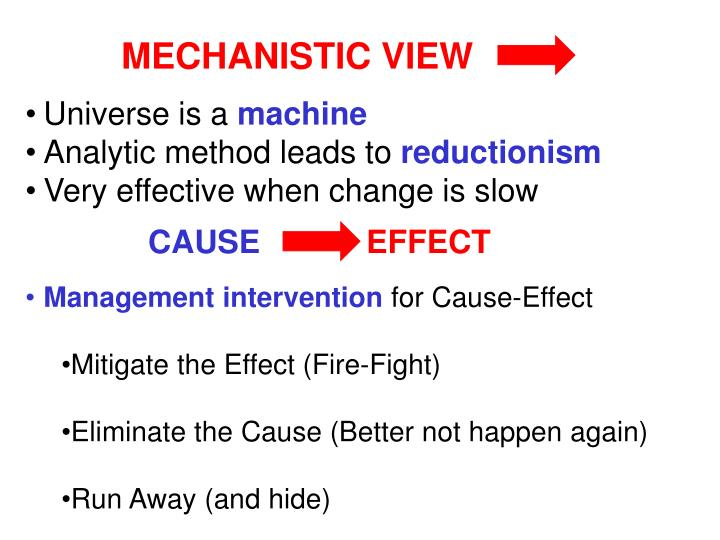MECHANISTIC VIEW