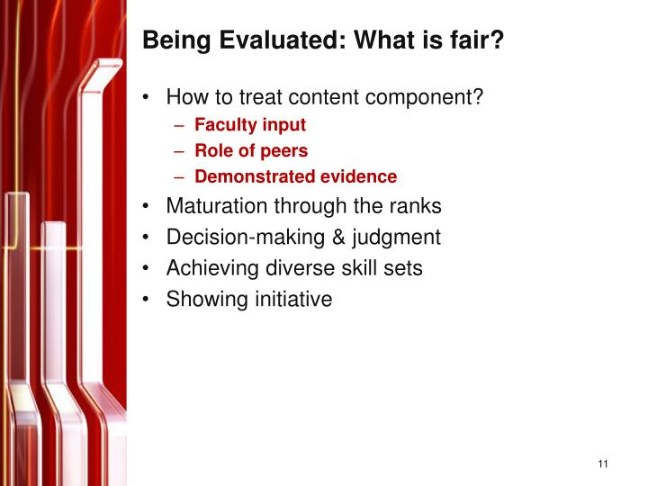 Being Evaluated: What is fair?