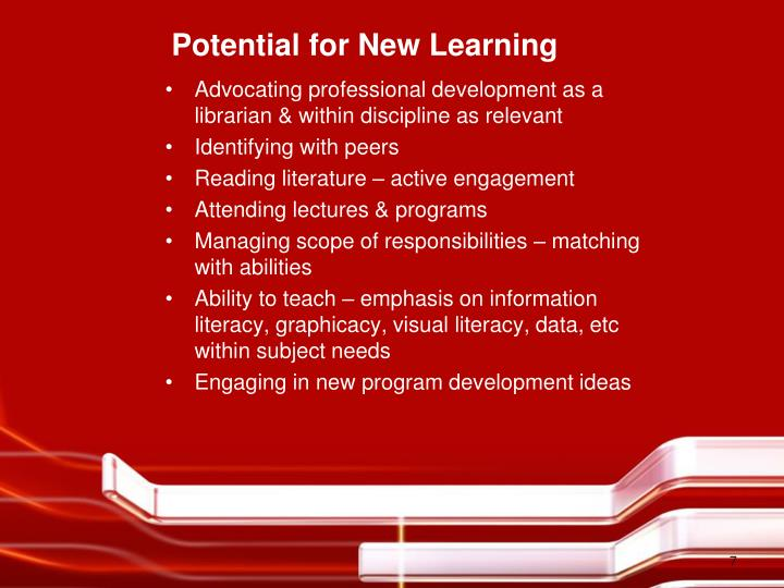 Potential for New Learning