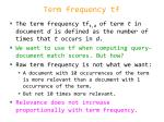 term frequency tf