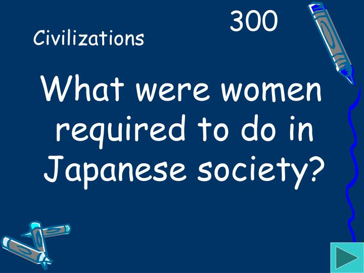 What were women required to do in Japanese society?
