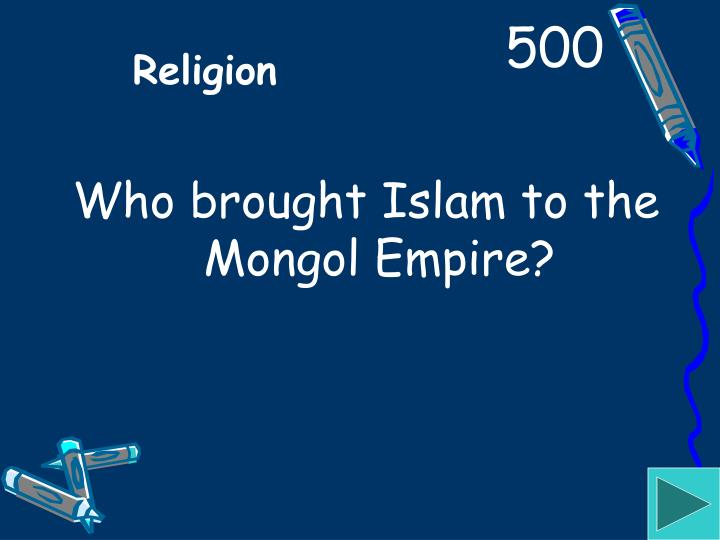 Who brought Islam to the Mongol Empire?