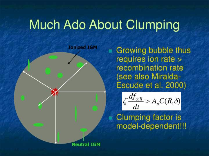 Much Ado About Clumping
