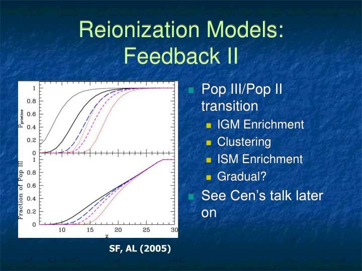 Reionization Models: