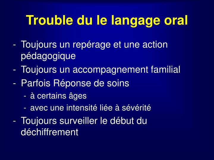 Trouble du le langage oral